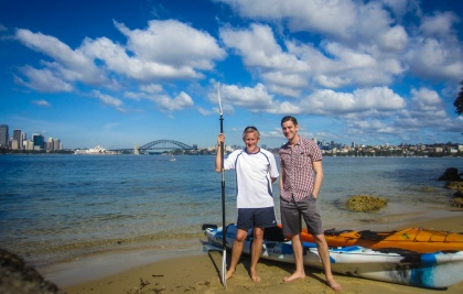 Kayaking Sydney Harbour Dec 2013-8