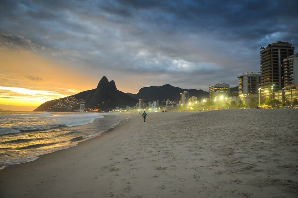 Ipanema at sunset